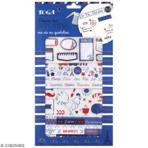 Toga Kit de décoration Bullet Journal Frenchy