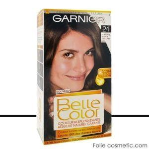 Garnier Belle Color - Coloration permanente Châtain - 24 Châtain foncé naturel