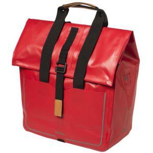 Basil Sacoche arrière latérale Urban Dry Shopper Étanche 20 L Rouge