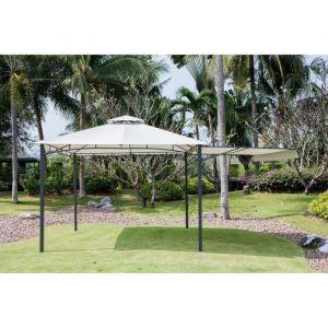 Beau Rivage Tonnelle de jardin Pianosa - 3,3x3,3m - Gris - Tonnelle de jardin - Structure en métal - Toile en polyester - Dimensions : 3,3x3,3m - Coloris : gris.
