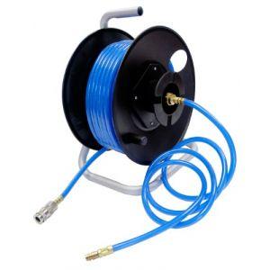 Mecafer Dévidoir tuyau translucide 6x11 20m + tuyau de liaison 1m
