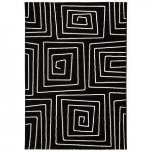 Coti Design Tapis de Salon Symetric 160x230cm Noir - Paris Prix