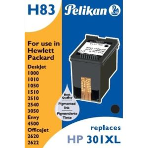 Pelikan 4108975 - Cartouche d'encre noire compatible HP 301XL