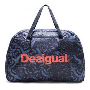 Desigual Packable Gym Bag Geo Patch Azul Furgon