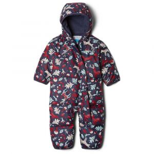Columbia Combinaisons Snuggly Bunny Bunting - Pomegranate / Nocturnal Reindeer - Taille 3-6 Mois