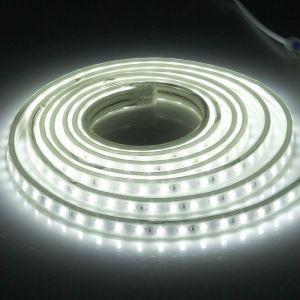 WeWoo Ruban LED Waterproof Bande lumineuse IP65 SMD 5730 imperméable à l'eau avec prise de courant, 120 / m, Longueur: 3 m, AC 220V lumière blanche