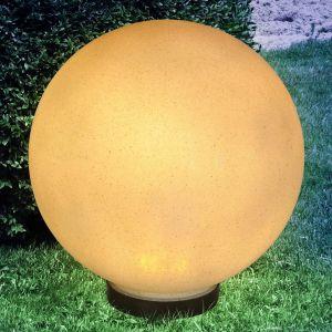 Globo Lampe solaire à LED, aspect pierre, diamètre 30 cm