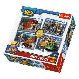Trefl 4 Puzzles - Bob le Bricoleur