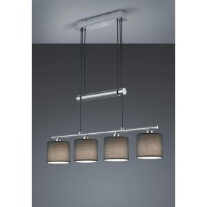 Trio Suspension Garda à 4 lampes, abat-jour gris