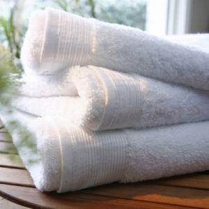 Blanc des vosges Eponge unie Gant Coton Blanc 16x22 cm