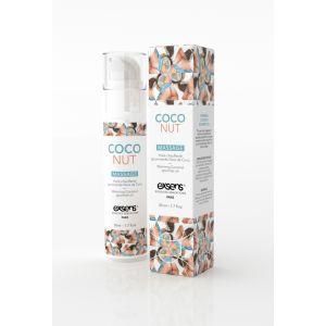 Exsens Huile de massage chauffante comestible arôme noix de coco