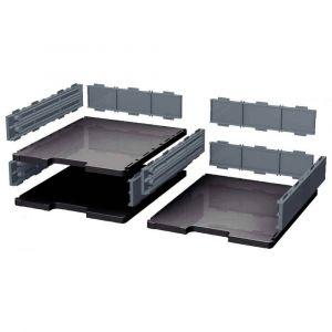Exacompta 340714D - MODULODOC set de base ECOBlack, cases normales, coloris noir/gris souris