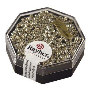 Rayher Perles Miyuki Delica 10/0 métallic argent - DMB 5