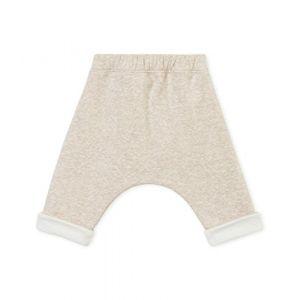 Petit Bateau SF Pantalons Maille Mixte bébé, Beige (Creamy Chiné 02), 0-3 (Taille Fabricant:1M 1 Mois)