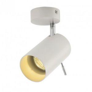 SLV Spot de plafond Ampoule halogène, LED GU10 EEC: selon lampoule (A++ - E) 75 W Asto Tube I 147411 blanc
