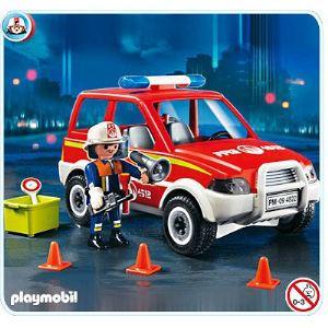Image de Playmobil 4822 - Voiture de pompier