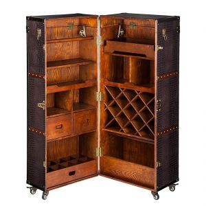Kare Design Colonial - Armoire coffre de bar