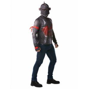 Rubie's Déguisement - Fortnite - T-shirt et cagoule Black Knight - Taille XL (9-10 ans)