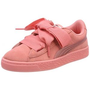 Puma Suede Heart SNK PS, Sneakers Basses Fille, Rose (Shell Pink-Shell Pink), 35 EU