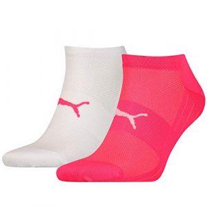 Puma Chaussettes -underwear Performance Train Light Sneaker 2 Pack - Pink / White - EU 35-38