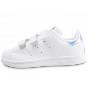 Adidas Stan Smith Iridescent Cf Originals Blanc/argent 33 Enfant