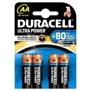 Duracell 4 piles alcalines AA Duralock Ultra Power