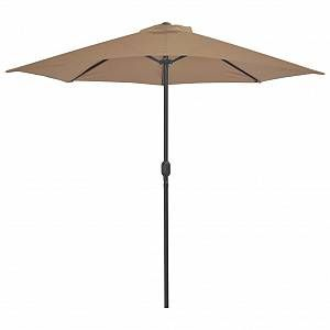 VidaXL Parasol d'extérieur avec mât en aluminium 270 x 135 cm Taupe
