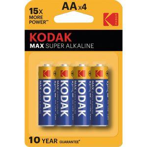 Kodak 4 piles alcalines AA LR06 1.5V Max