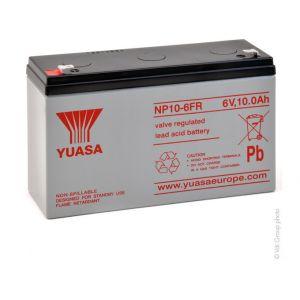 Yuasa Batterie plomb AGM NP10-6FR 6V 10Ah F4.8
