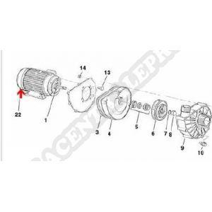 Procopi 933079 - Capot de ventilateur moteur Badujet 21-80 triphasé