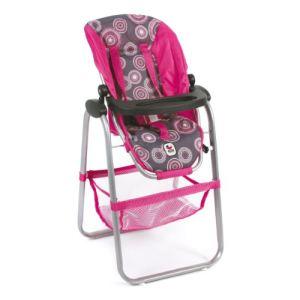 Bayer Chic Chaise haute rose/perles pour poupon