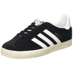 Adidas Gazelle, Baskets Basses Mixte Enfant, Noir (Core Black/Footwear White/Gold Metallic 0), 35.5 EU