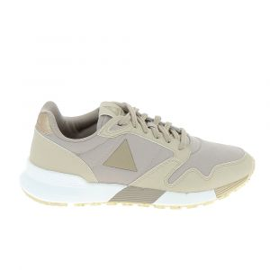 Le Coq Sportif Omega X W Metallic, Baskets Femmes, Beige (Moonlight), 36 EU