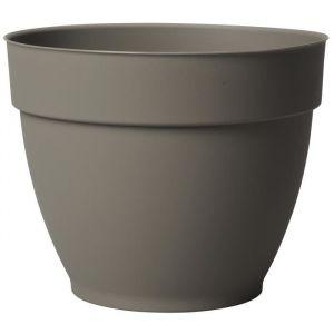 Deroma Pot plastique à réserve d'eau Diam.52 x H.41.5 cm taupe