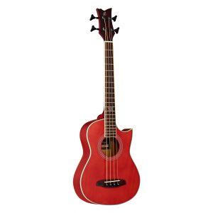 Ortega D-WALKER-RD Basse acoustique B-Band avec housse/sangle A1.2 Système pickup Rouge