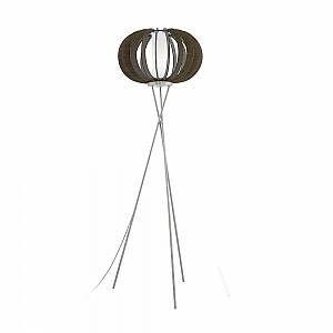 Eglo Lampadaire LED trépied Stellato en bois foncé