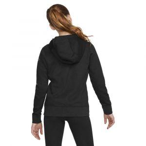 Nike Sweatà capuche entièrement zippé en tissu Fleece Air pour Fille plus âgée - Noir - Taille S - Female