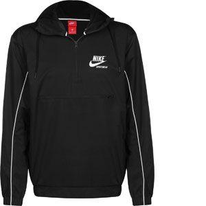Nike Veste NSW HD Woven - Noir/Blanc Cassé