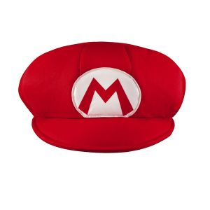 Super Mario 13376 - Chapeau Mario, rouge, taille unique
