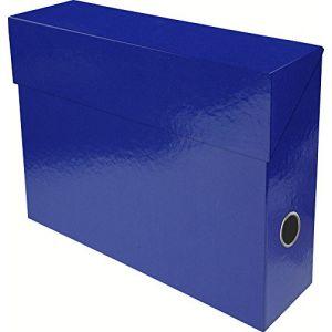 Exacompta 89922E - Boîte transfert IDERAMA en carte 22/10e, dos de 90, coloris bleu foncé