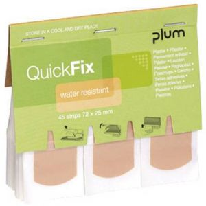 Plum Pack de recharge avec 45 pansements étanches, pour distributeur de pansements Quick Fix -