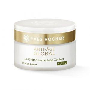 Yves Rocher La Crème Correctrice Confort Nuit - Toutes Peaux - Pot 50 ml