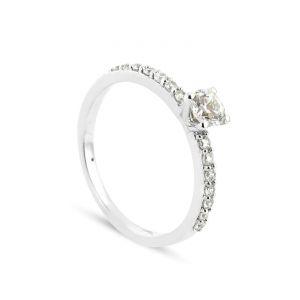 Rêve de diamants 3612030073427 - Bague en or blanc sertie de diamants