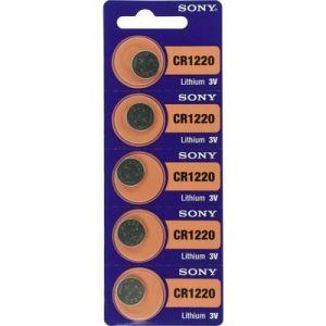 Sony Pile bouton lithium CR 1220 40 mAh 3V 5 pcs
