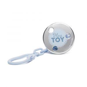 Suavinex Attache sucette Rose & Bleu Toys bleu clair et argent (motif aléatoire)