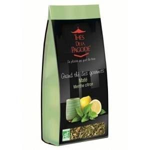 Thés de la pagode Sachet 110 g de thé Mate menthe citron