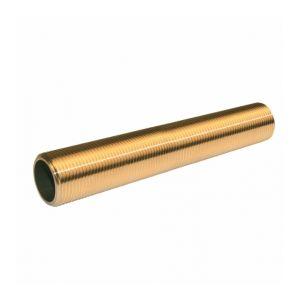 Quick Plomberie Traversée de cloison 100mm laiton - à visser - pour tube cuivre (20x27) - Dimensions : 20x27