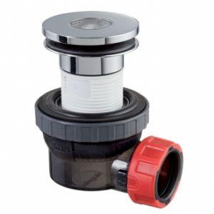 Wirquin Bonde et siphon de lavabo ultra compact NANO 6.7 - Couleur : CHROME
