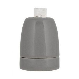 Bailey Douille en porcelaine - E27 - Serre-câble - Grise