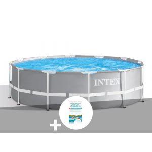 Intex Kit piscine tubulaire Prism Frame ronde 3,66 x 0,99 m + Kit de traitement au chlore